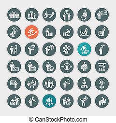 fogalom, állhatatos, ügy icons