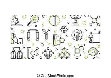 fogalom, áttekintés, ábra, vektor, biológiai, kémia