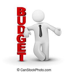 fogalom, ügy, költségvetés, átnyújtás, ember, 3