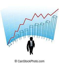 fogalom, ügy, siker, ábra, ív, diagram, ember