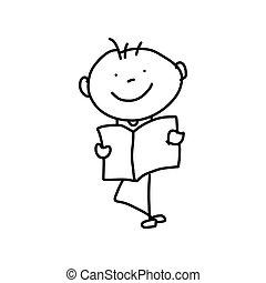 fogalom, anya, karikatúra, kéz, rajz, nap, boldog