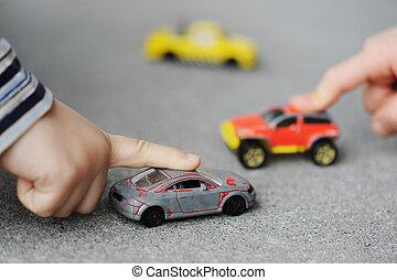 fogalom, autó, -, gyermekkor, játékszer, ártatlanság, játék