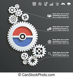 fogalom, bekapcsol, elvont, ábra, vektor, tervezés, háttér, infographics, tol