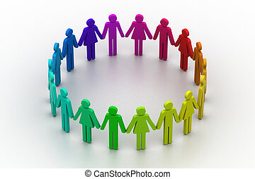 fogalom, emberek, alkot, munka sportcsapat, circle., 3