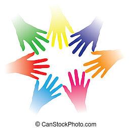 fogalom, emberek, más, közösség, tartott, kötés, társas viszony, csoport, networking, javalló, színes, befog, ábra, ételadag kezezés, emberek, együtt, sok nemzetiségű, mindegyik, lélek, etc., társadalmi