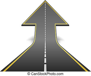 fogalom, fordítás, illustration., egyenes, felmegy, vektor, nyíl, út