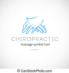 fogalom, gerinc kezelése, jelkép, címke, vektor, vagy, masszázs, ikon