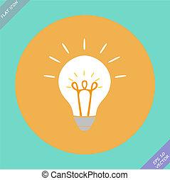 fogalom, gondolat, kreatív, alakít, gumó, ihlet