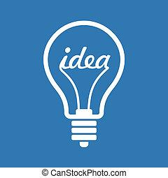 fogalom, gondolat, kreatív, alakít, vektor, gumó, icon., ihlet