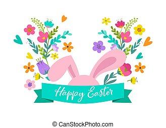 fogalom, húsvét, menstruáció, kiárusítás, köszönés, design., ünnep, easter nyuszi, kártya, boldog