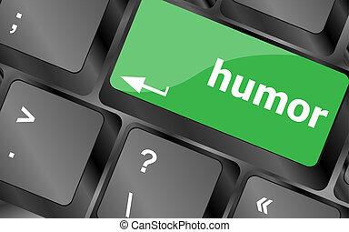 fogalom, humor, billentyűzet, -, computer kulcs, társadalmi