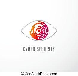 fogalom, jel, technológia, szem, ikon