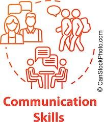 fogalom, kommunikáció icon, szakértelem