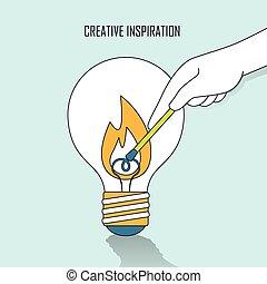 fogalom, kreatív, ihlet