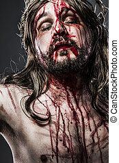 fogalom, krisztus, fejtető, jézus, tövis, indulat