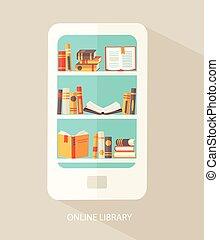 fogalom, library., digitális