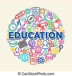 fogalom, oktatás, ábra