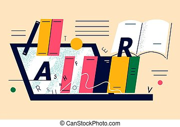 fogalom, online tanítás, könyvtár, internet