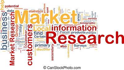 fogalom, piac, háttér, kutatás