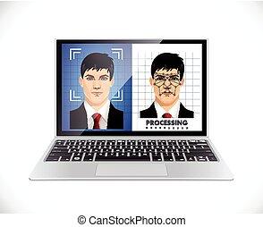 fogalom, -, rendszer, arc, számítógép, elismerés, szoftver