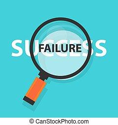 fogalom, siker, ügy, balsiker, jelkép, analízis, pohár, mögött, magasztalás