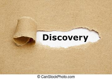 fogalom, szétszakít újság, felfedezés