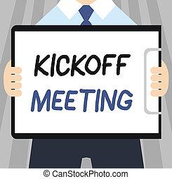 fogalom, szó, ügy, szöveg, vita, kickoff, írás, terv, meeting., belebonyolódott, különleges, törvényességek