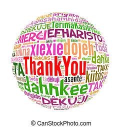 fogalom, szó, hálát ad, sok, nyelvek, ön, world.