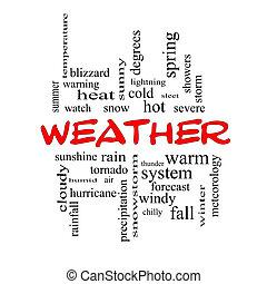 fogalom, szó, kivezetés, időjárás, felhő, piros