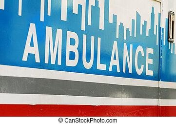 fogalom, szükséghelyzet, mentőautó