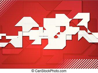 fogalom, szürke, alakzat, háttér, geometriai, piros