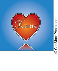 fogalom, szeret, épület, illustra, otthon, vagy