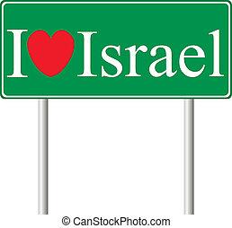 fogalom, szeret, út cégtábla, izrael