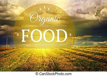 fogalom, szerves táplálék, mező, tanya, táj