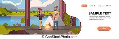 fogalom, természetjárás, hegyek, tele, rendező, táj, kempingezés, hely, tűzifa, birtok, természetjáró, sátor, lakás, nő, természet, elbocsát, párosít, háttér, horizontális, másol, ember, sportkocsik, tábor, hosszúság, folyó