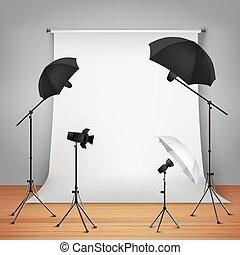 fogalom, tervezés, fénykép studio