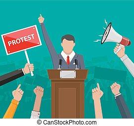 fogalom, tiltakozás, hangszóró
