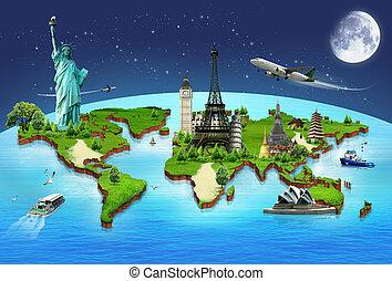 fogalom, utazás, világ, nyelvemlékek