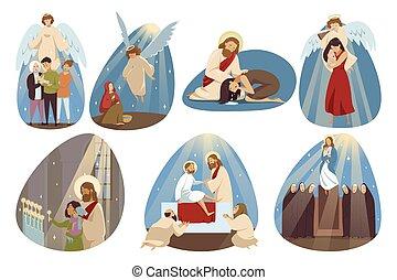 fogalom, vallás, állhatatos, kereszténység, biblia