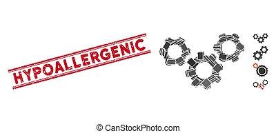 fogaskerék-áttétel, rendszer, mózesi, watermark, hypoallergenic, grunge, megvonalaz