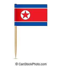 fogpiszkáló, lobogó, észak, korea.