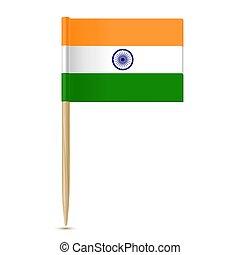 fogpiszkáló, lobogó, india