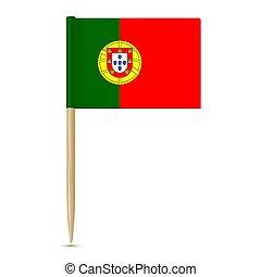fogpiszkáló, lobogó, portugália
