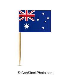 fogpiszkáló, white háttér, australia lobogó