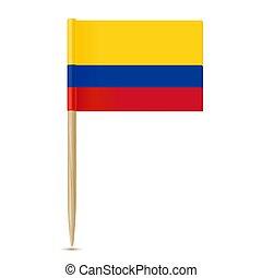 fogpiszkáló, white háttér, colombia lobogó