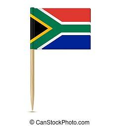 fogpiszkáló, white háttér, déli, lobogó, afrika