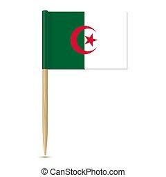 fogpiszkáló, white háttér, lobogó, algéria