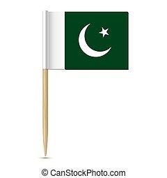 fogpiszkáló, white háttér, pakistan lobogó