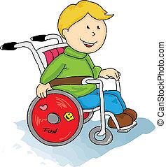 fogyatékos, fiú, kevés