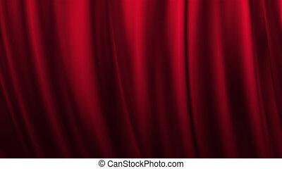 fokozat, piros függöny, színház, háttér